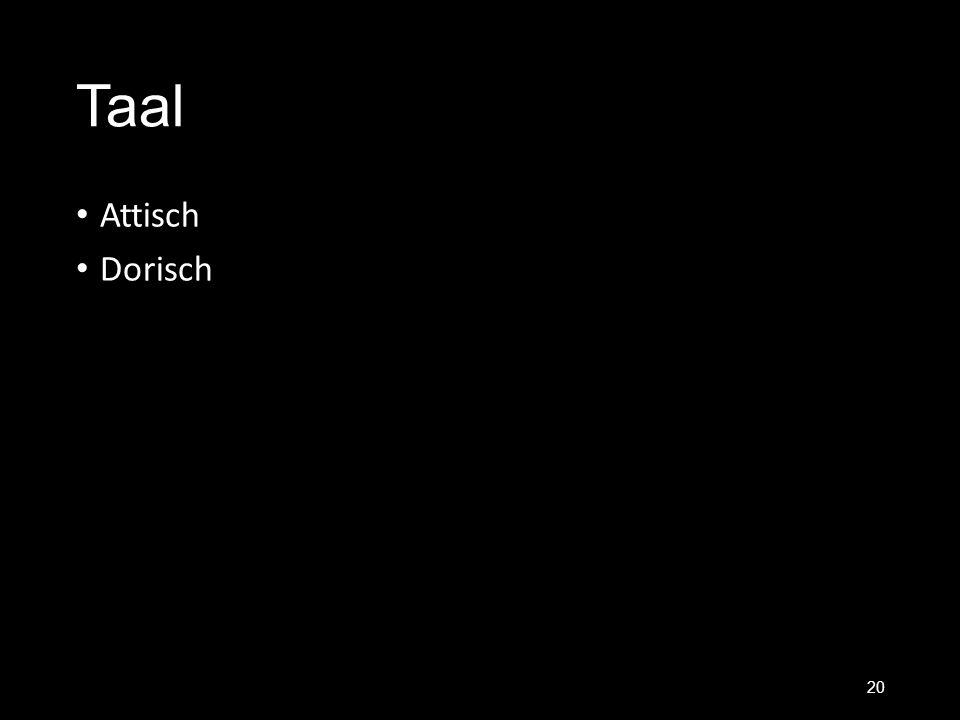 Taal Attisch Dorisch