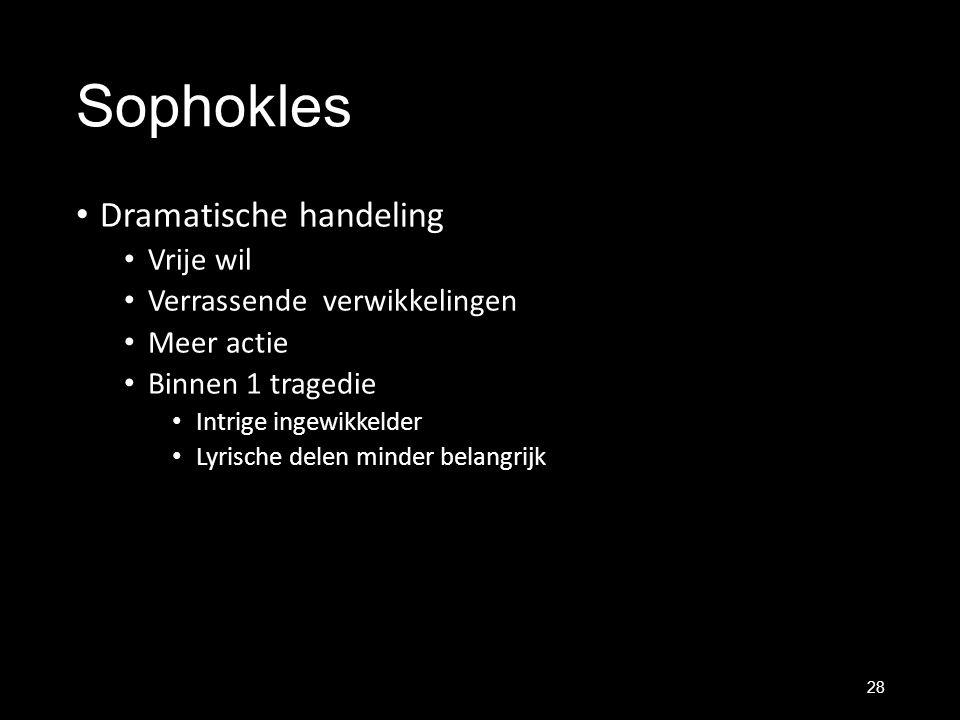 Sophokles Dramatische handeling Vrije wil Verrassende verwikkelingen