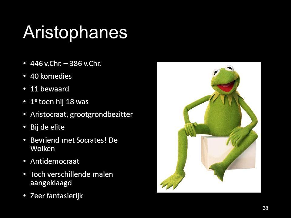 Aristophanes 446 v.Chr. – 386 v.Chr. 40 komedies 11 bewaard