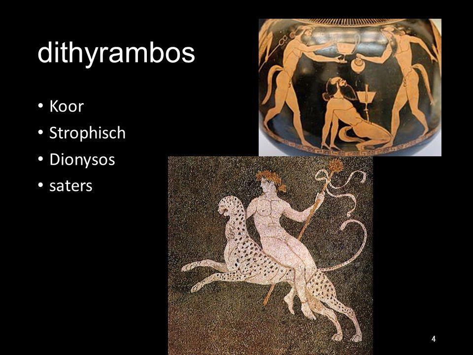 dithyrambos Koor Strophisch Dionysos saters