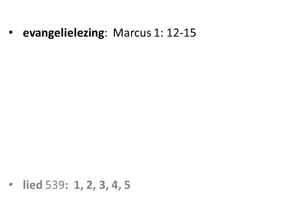 evangelielezing: Marcus 1: 12-15