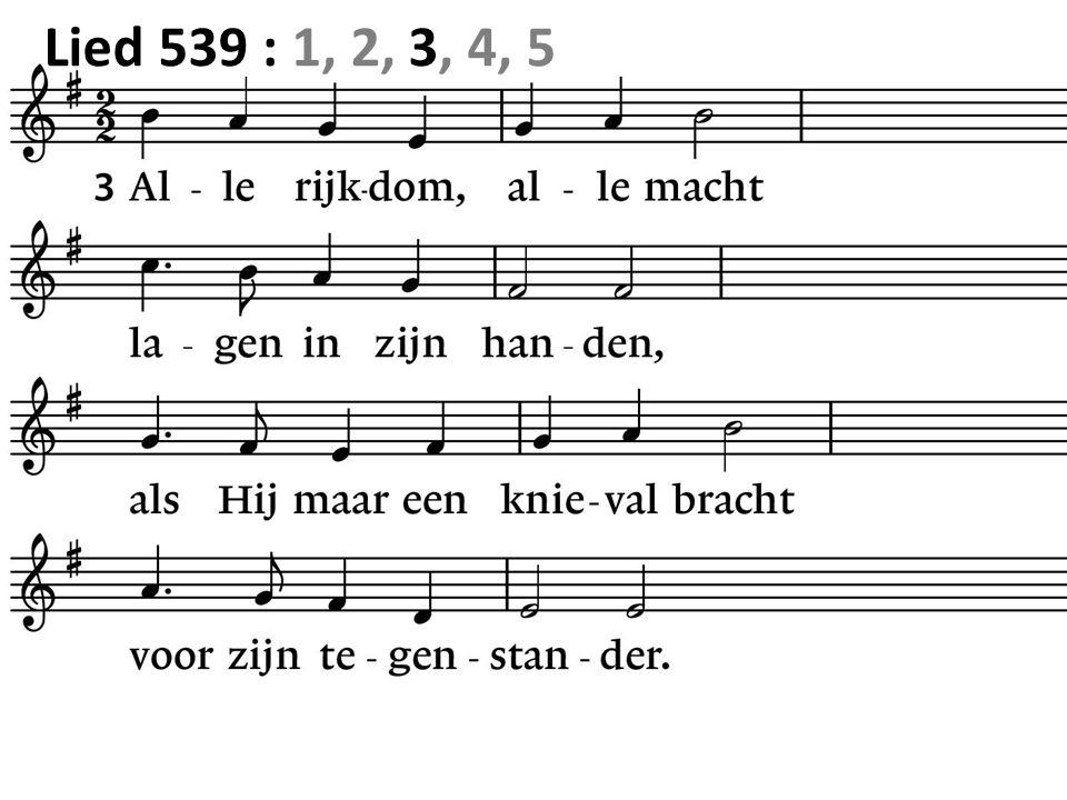 Lied 539 : 1, 2, 3, 4, 5