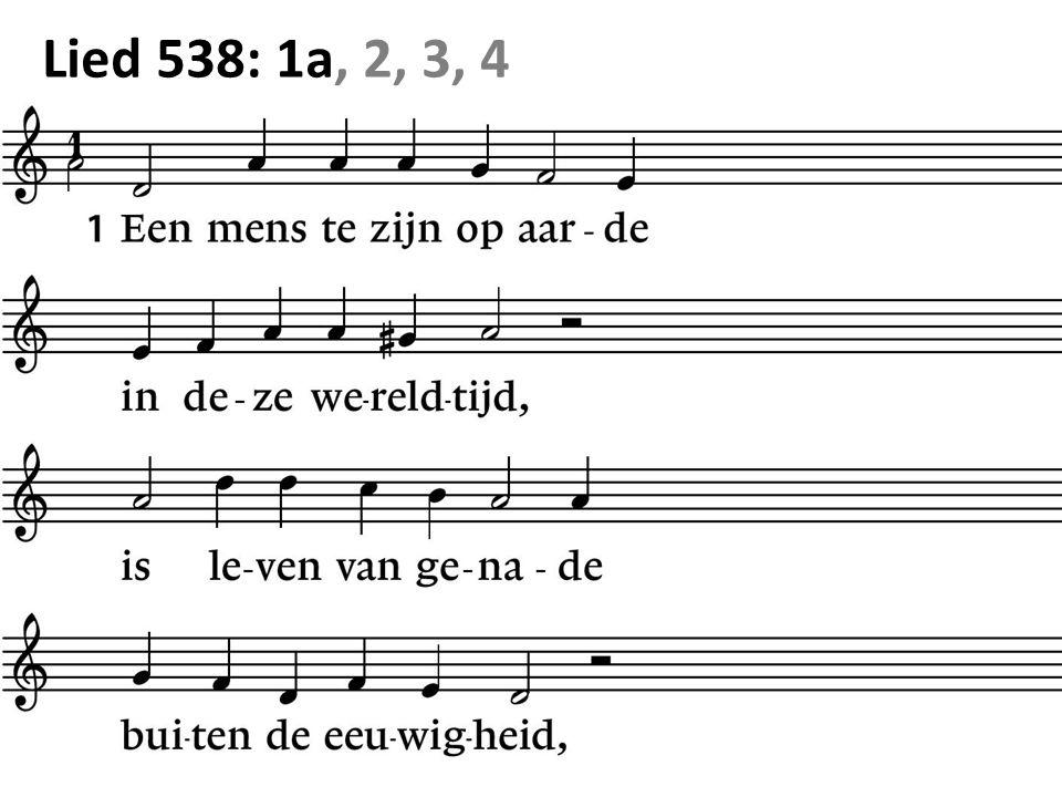 Lied 538: 1a, 2, 3, 4