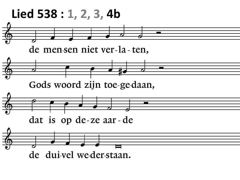 Lied 538 : 1, 2, 3, 4b