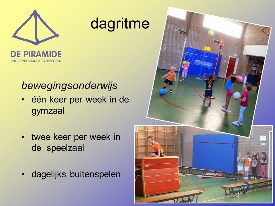 dagritme bewegingsonderwijs één keer per week in de gymzaal