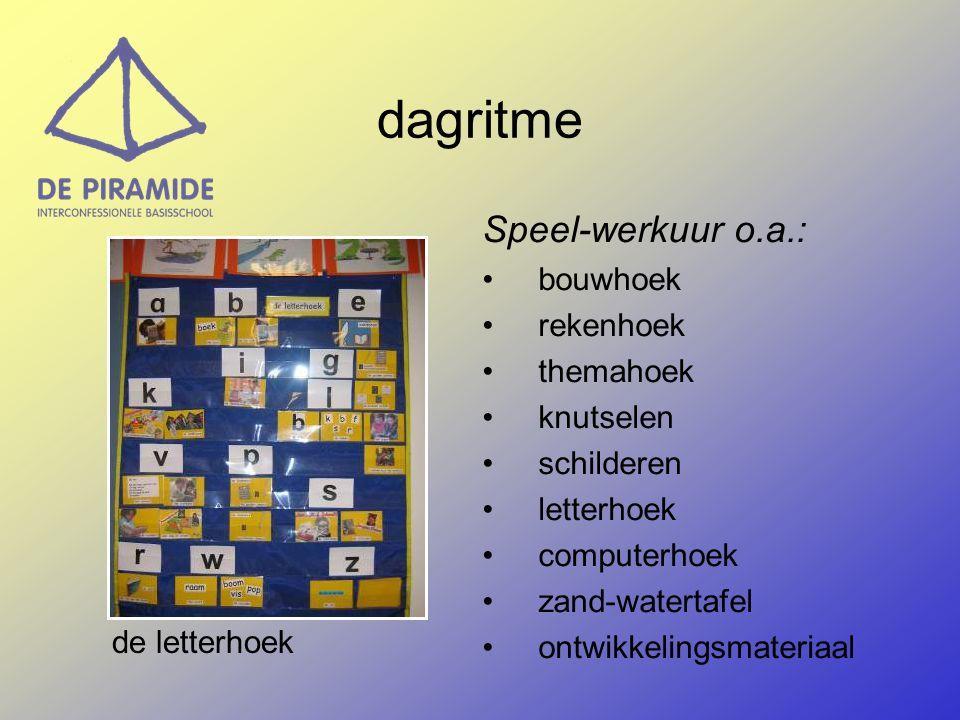 dagritme Speel-werkuur o.a.: bouwhoek rekenhoek themahoek knutselen