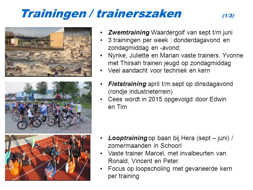 Trainingen / trainerszaken (1/3)