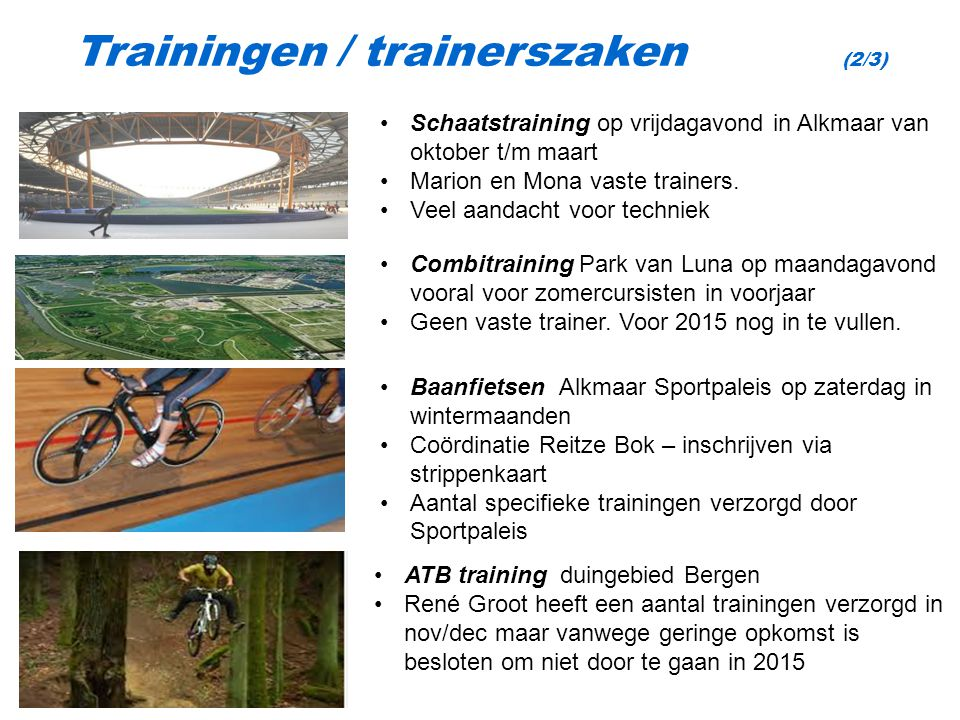 Trainingen / trainerszaken (2/3)