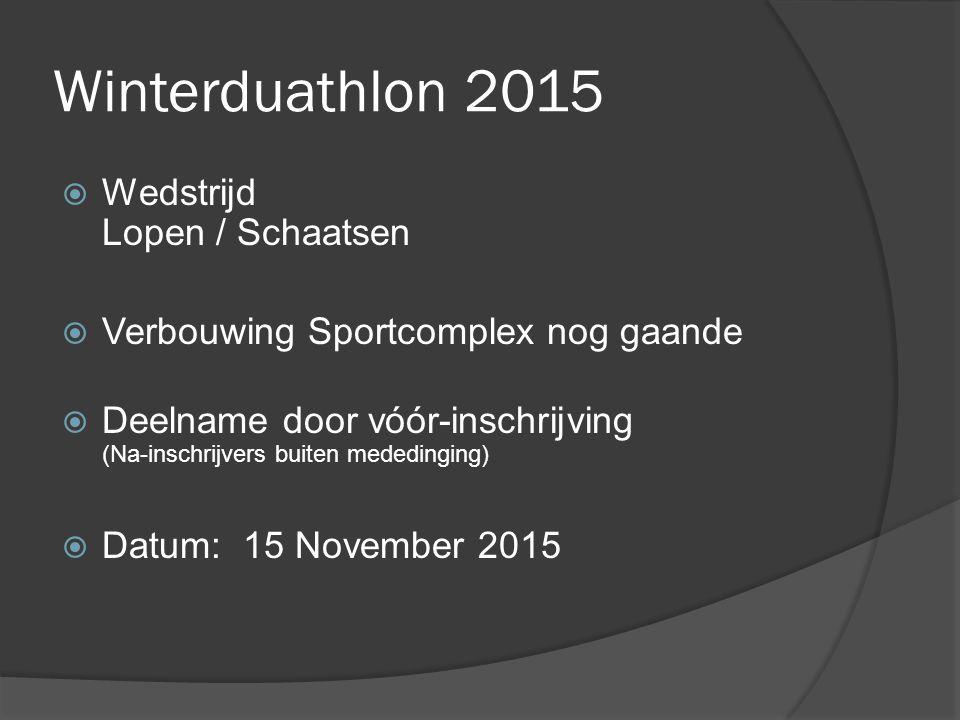 Winterduathlon 2015 Wedstrijd Lopen / Schaatsen
