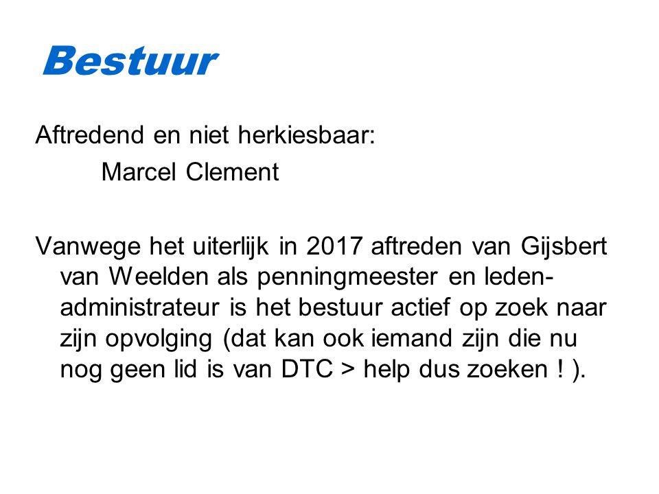 Bestuur Aftredend en niet herkiesbaar: Marcel Clement
