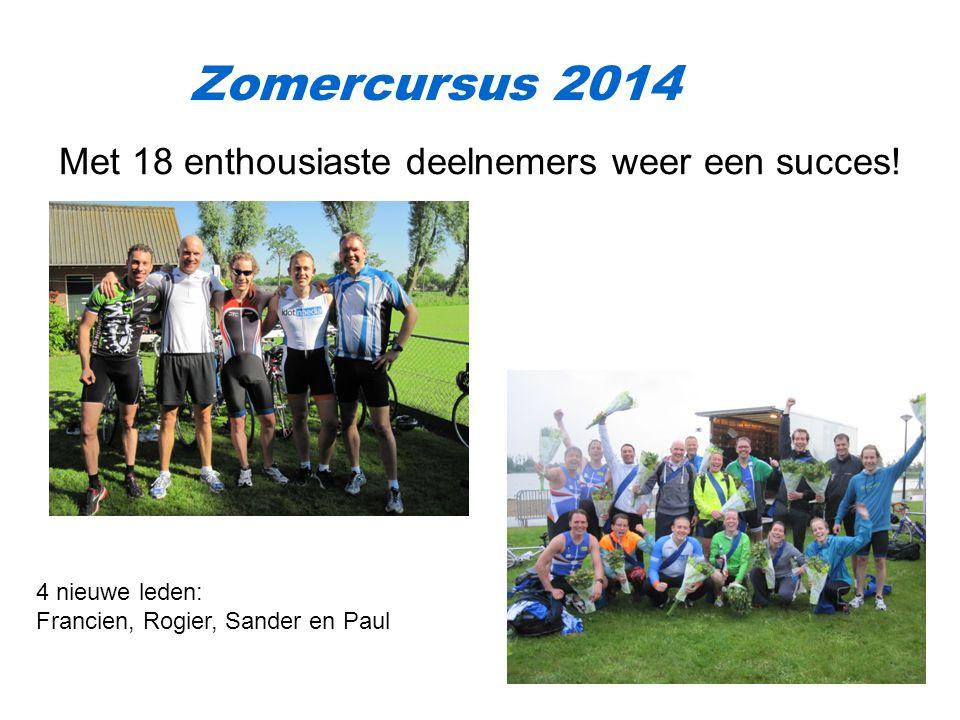 Zomercursus 2014 Met 18 enthousiaste deelnemers weer een succes!