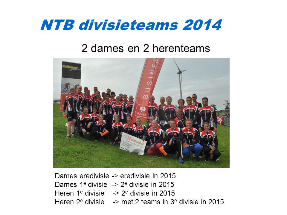 NTB divisieteams 2014 2 dames en 2 herenteams