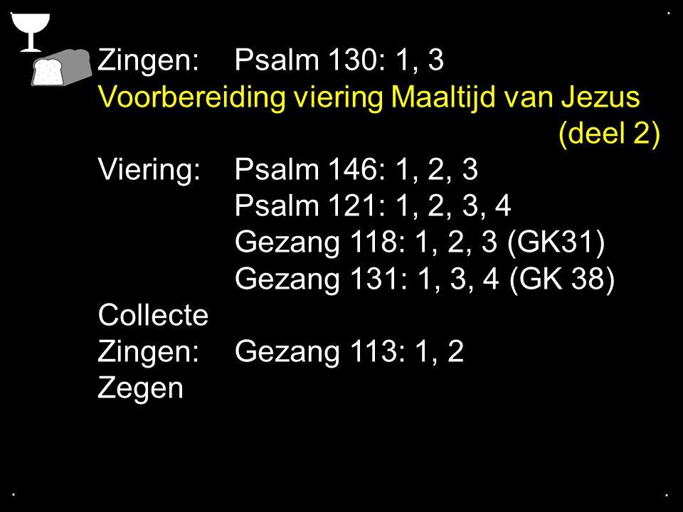 Voorbereiding viering Maaltijd van Jezus (deel 2)