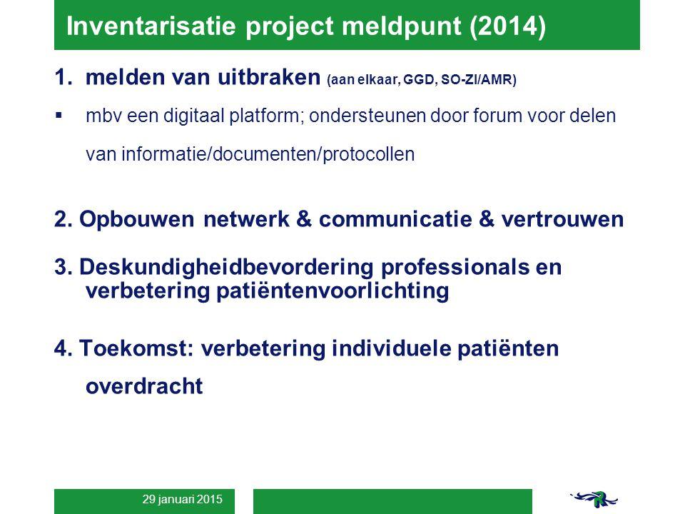 Inventarisatie project meldpunt (2014)