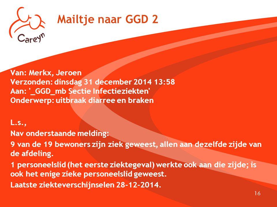 Mailtje naar GGD 2