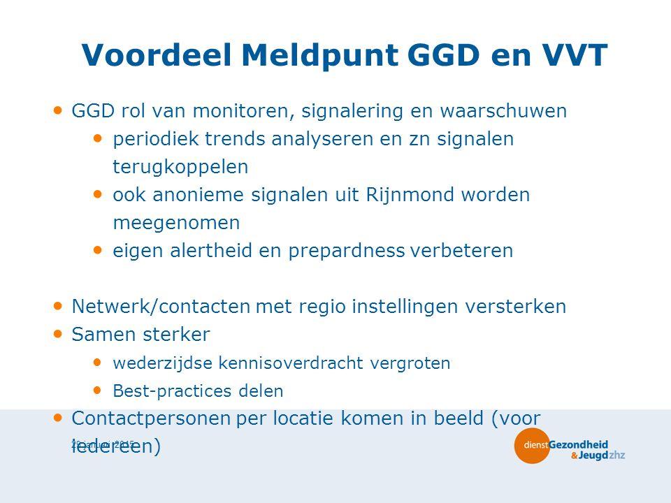 Voordeel Meldpunt GGD en VVT