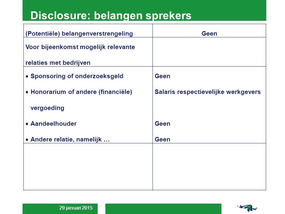 Disclosure: belangen sprekers