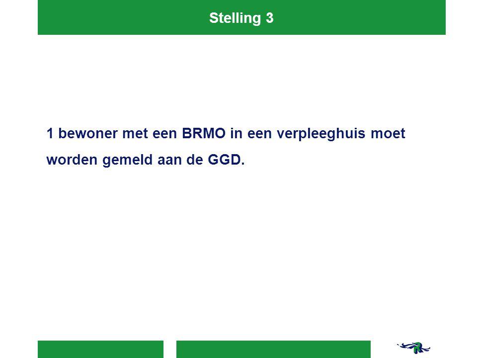 Stelling 3 1 bewoner met een BRMO in een verpleeghuis moet worden gemeld aan de GGD.