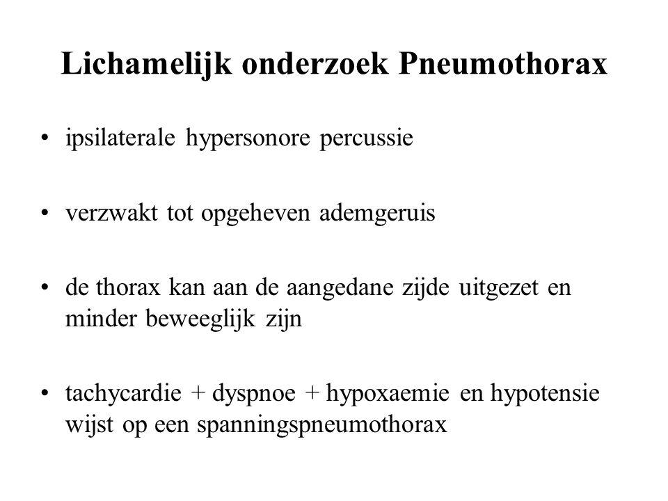 Lichamelijk onderzoek Pneumothorax