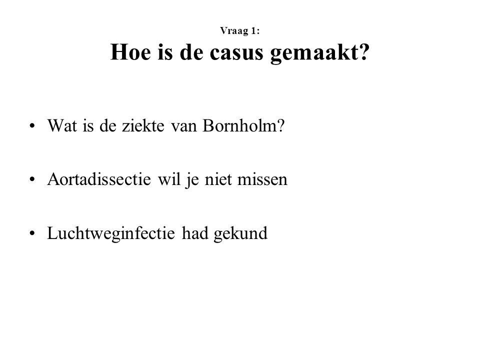 Vraag 1: Hoe is de casus gemaakt