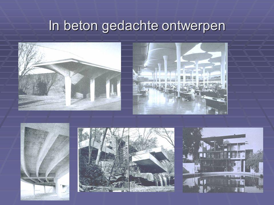 In beton gedachte ontwerpen