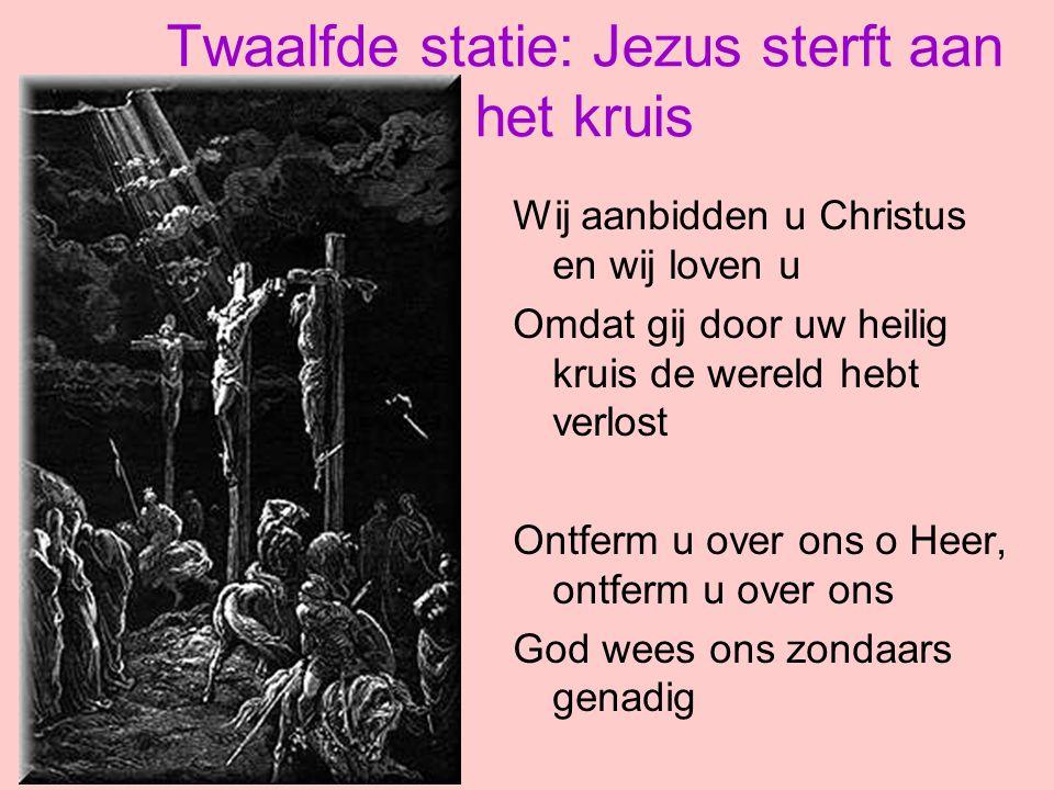 Twaalfde statie: Jezus sterft aan het kruis