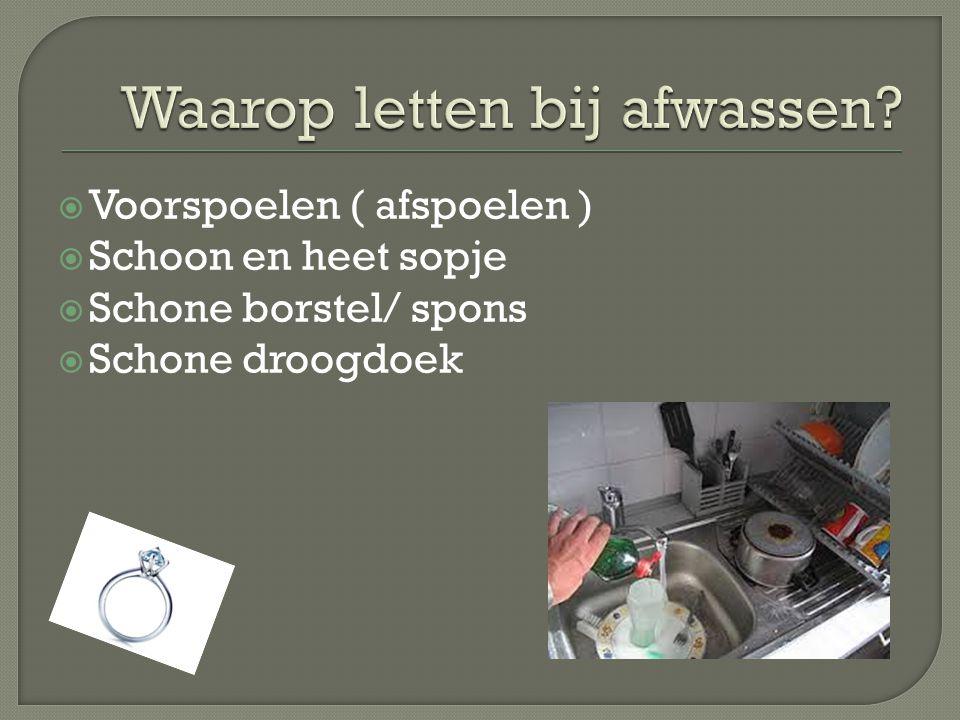 Waarop letten bij afwassen