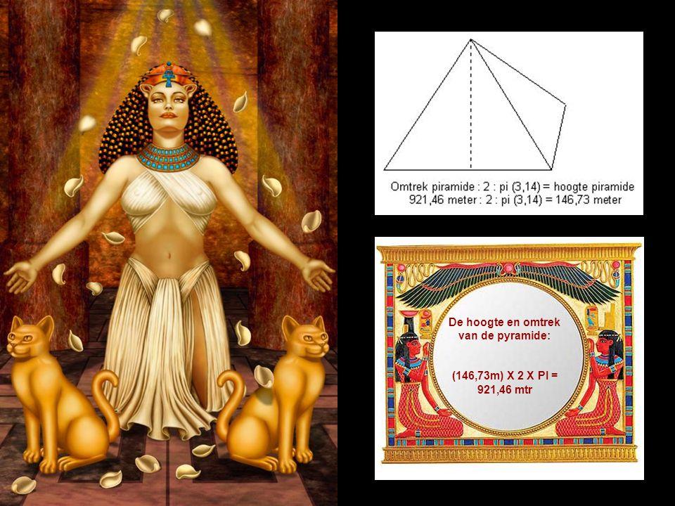 De hoogte en omtrek van de pyramide: