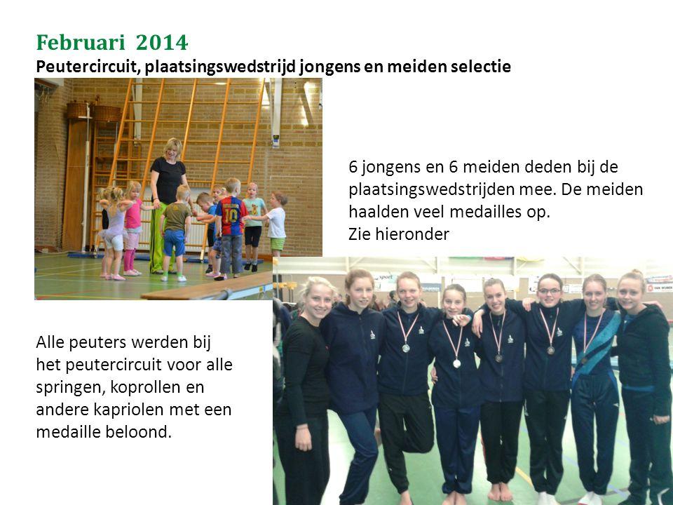 Februari 2014 Peutercircuit, plaatsingswedstrijd jongens en meiden selectie.