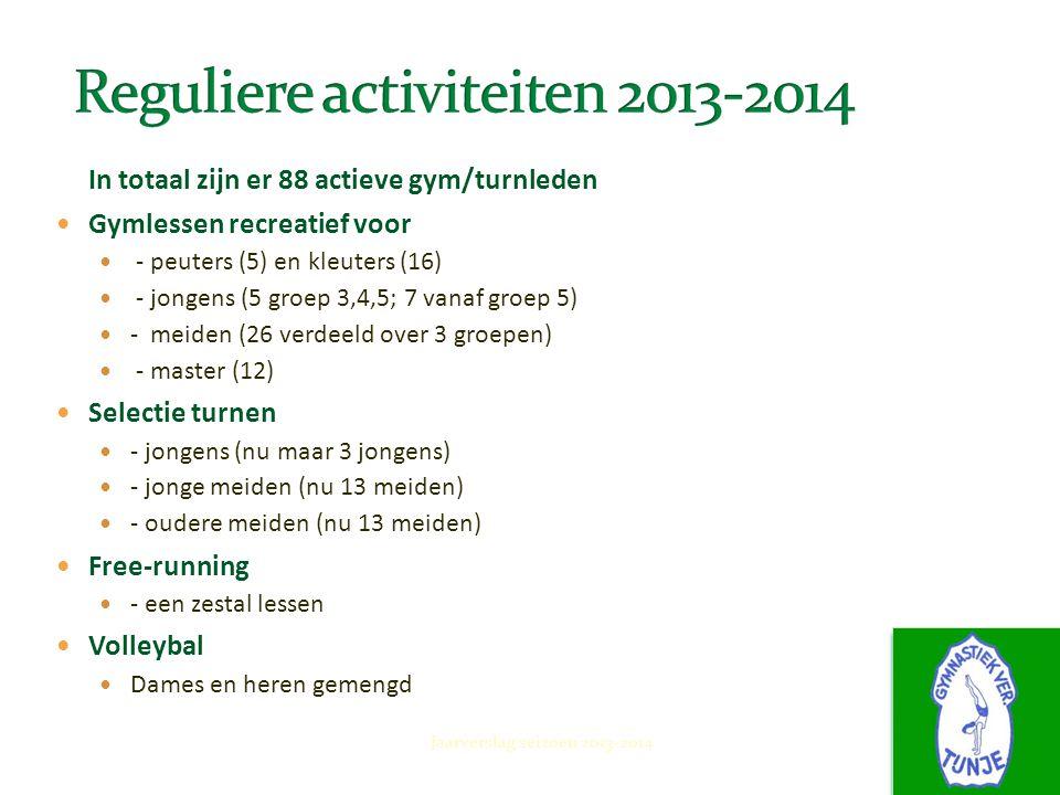Reguliere activiteiten 2013-2014