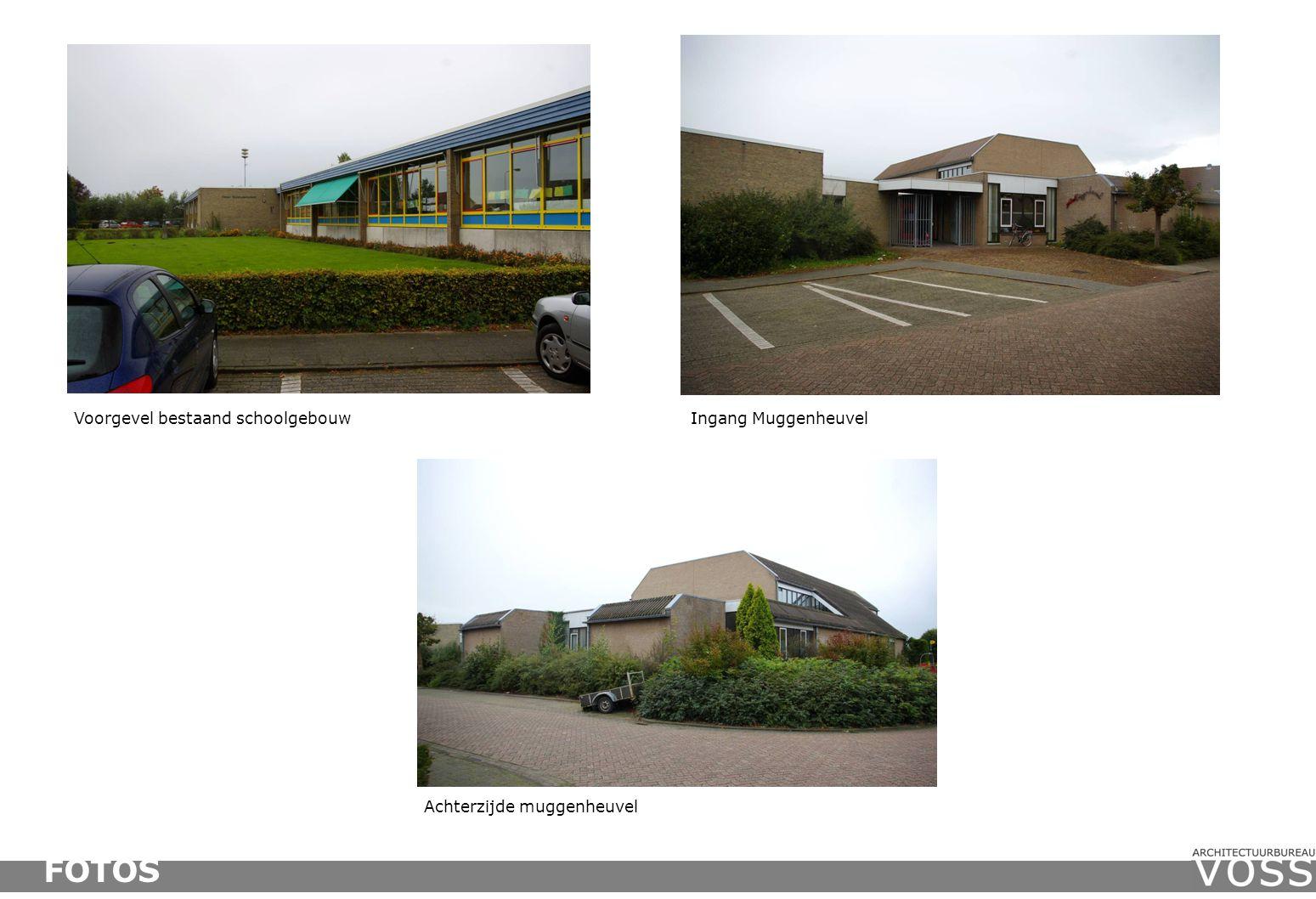 FOTOS Voorgevel bestaand schoolgebouw Ingang Muggenheuvel