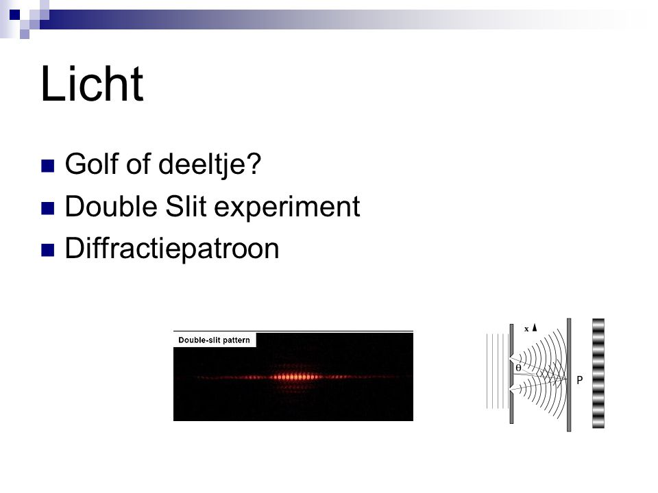 Licht Golf of deeltje Double Slit experiment Diffractiepatroon
