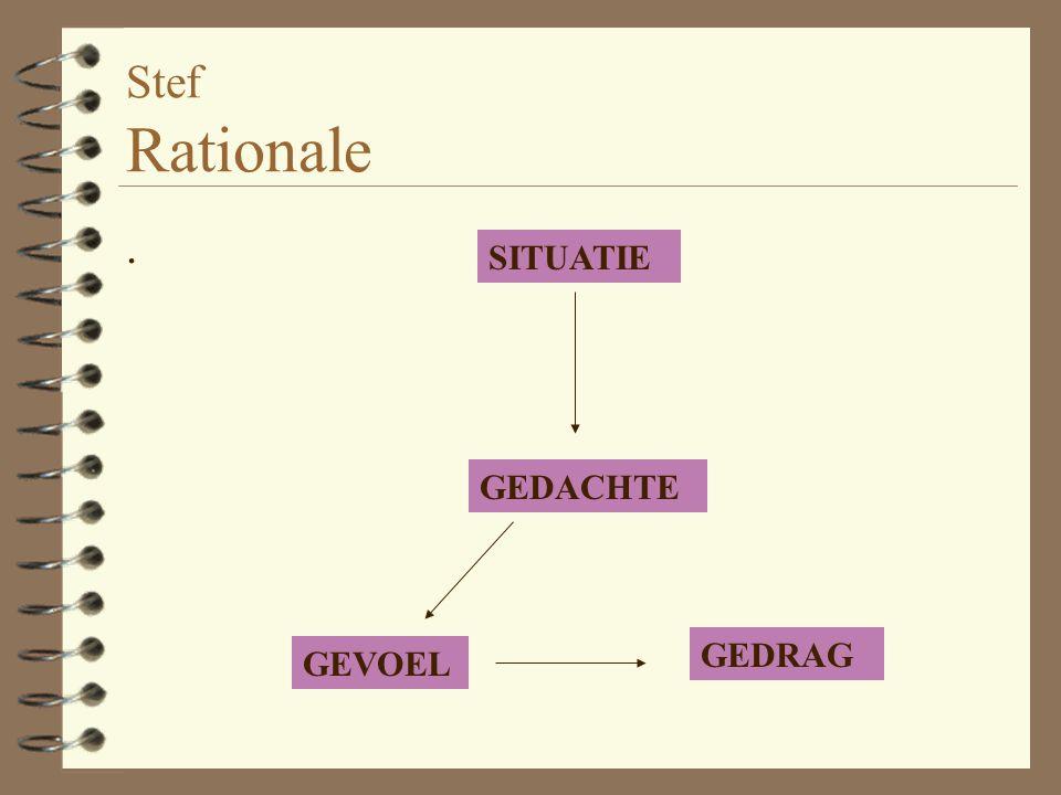 Stef Rationale . SITUATIE GEDACHTE GEDRAG GEVOEL