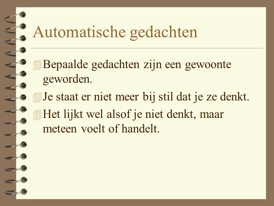 Automatische gedachten