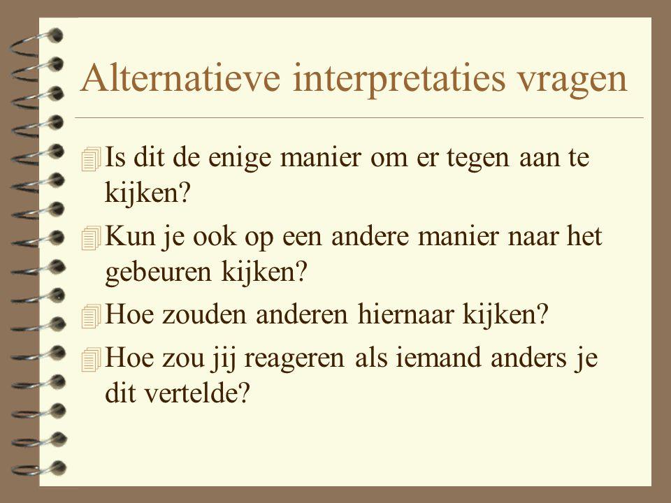Alternatieve interpretaties vragen