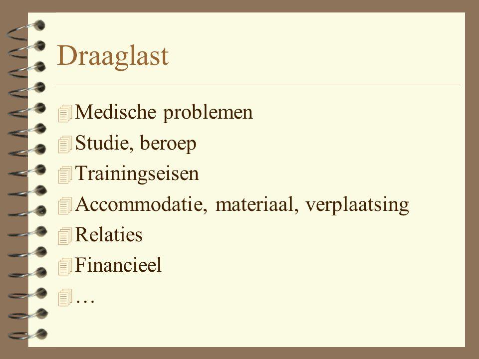Draaglast Medische problemen Studie, beroep Trainingseisen