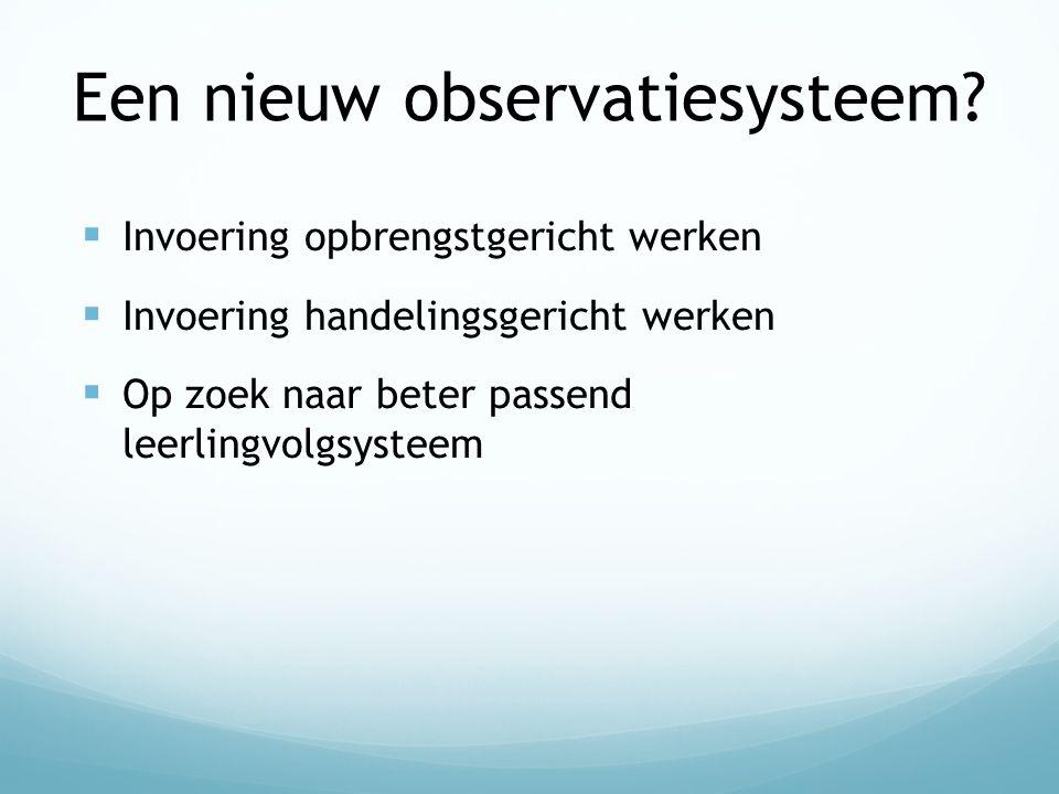 Een nieuw observatiesysteem