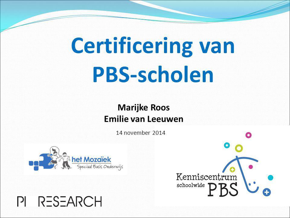 Certificering van PBS-scholen