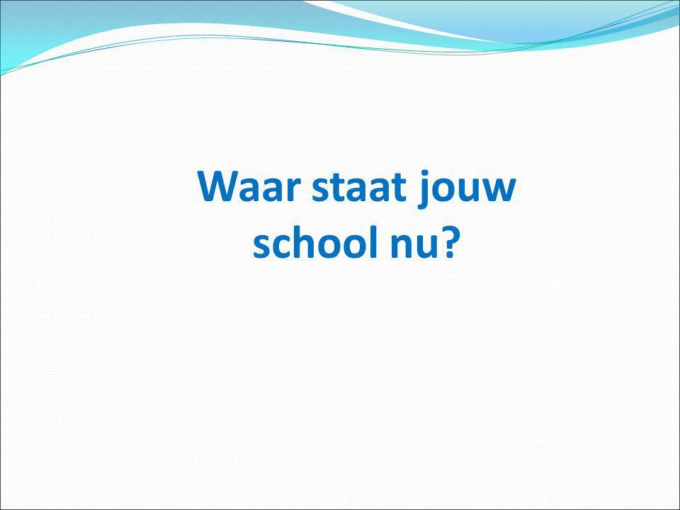 Waar staat jouw school nu