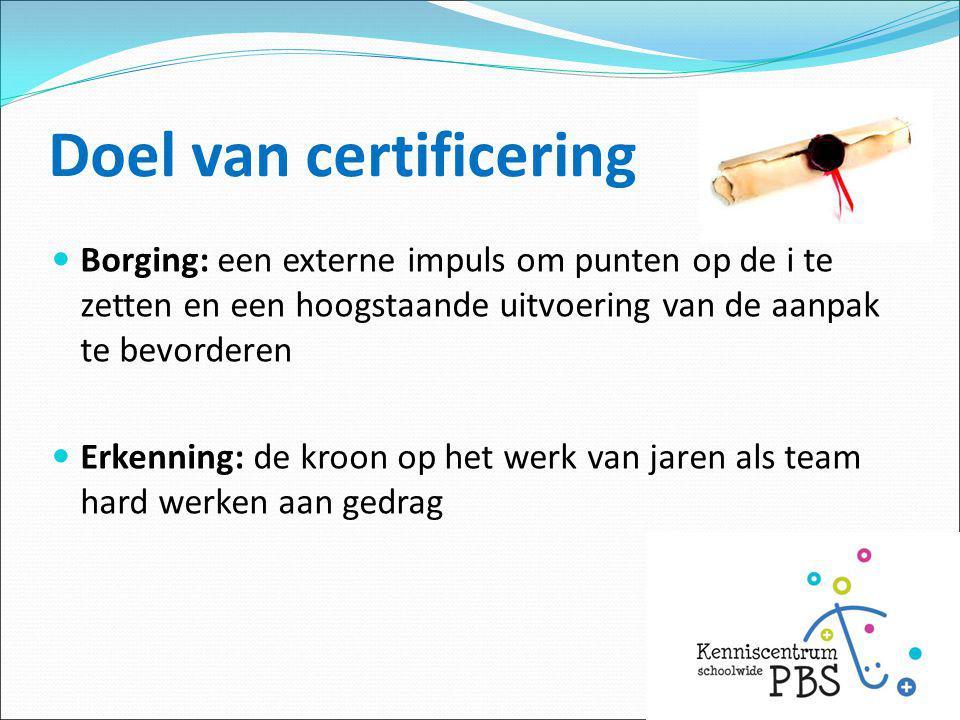 Doel van certificering