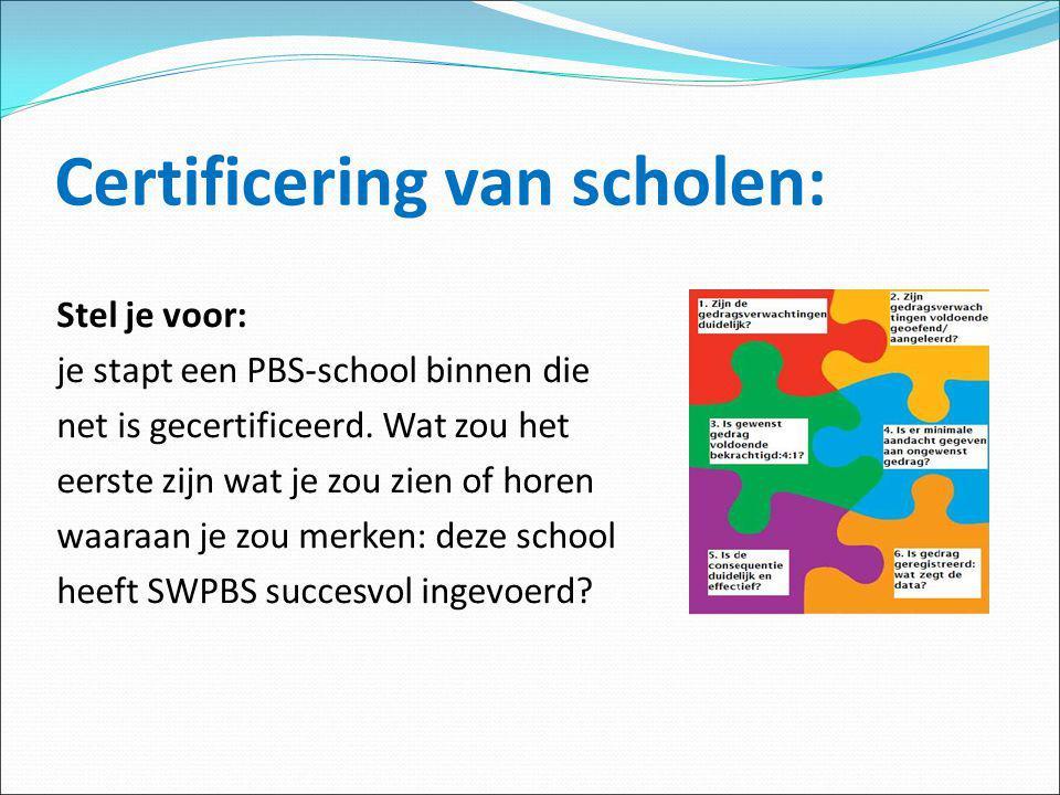 Certificering van scholen: