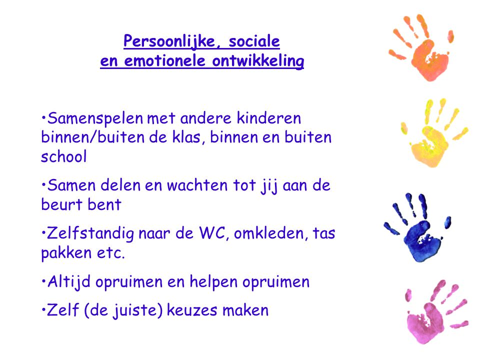 Persoonlijke, sociale en emotionele ontwikkeling