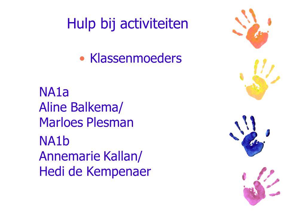 Hulp bij activiteiten Klassenmoeders