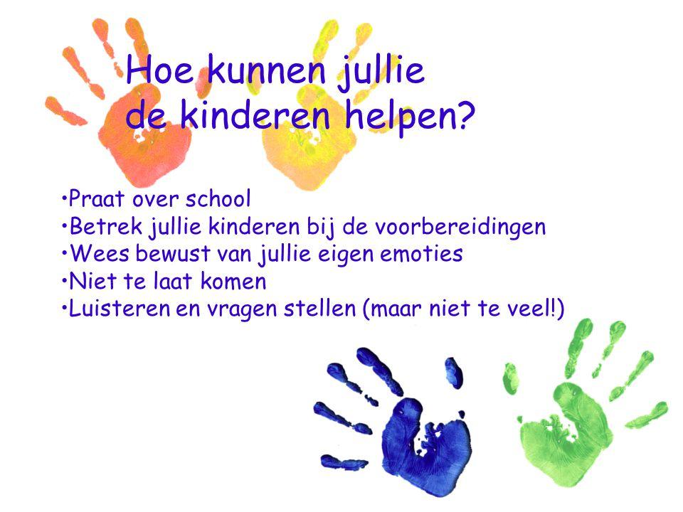 Hoe kunnen jullie de kinderen helpen Praat over school