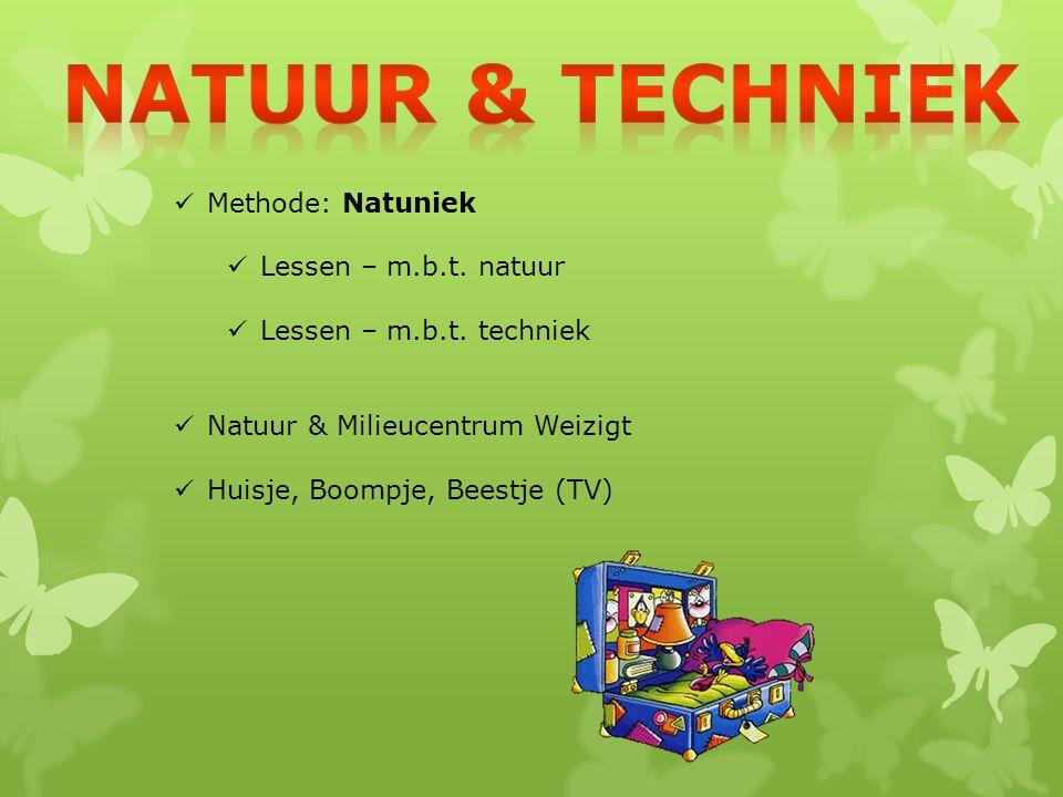 Natuur & techniek Methode: Natuniek Lessen – m.b.t. natuur
