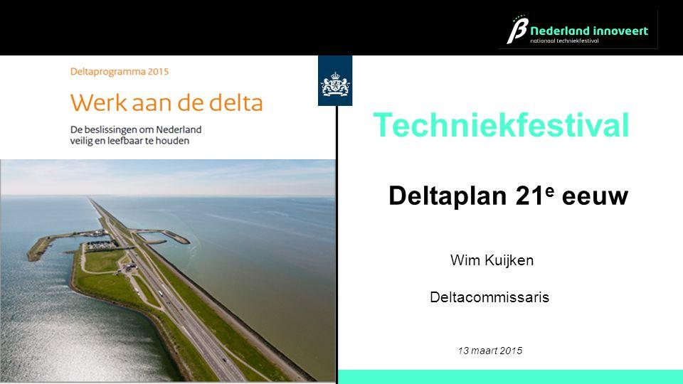 Techniekfestival Deltaplan 21e eeuw Wim Kuijken Deltacommissaris