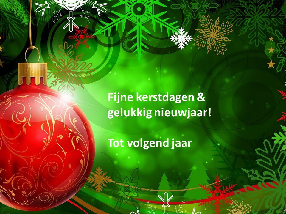 Fijne kerstdagen & gelukkig nieuwjaar!