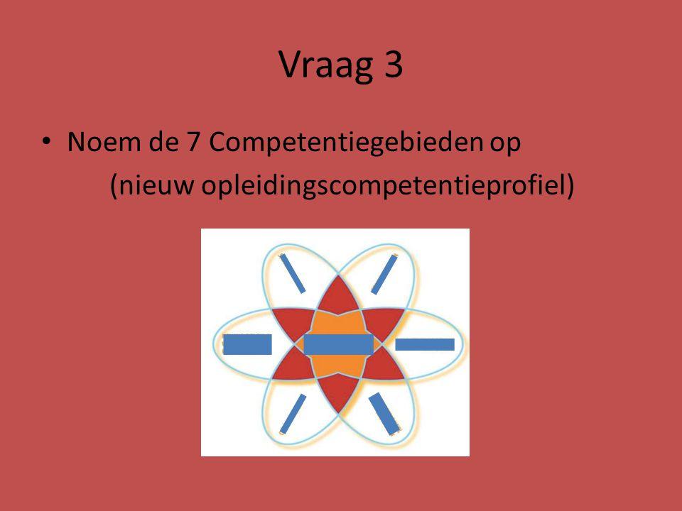 Vraag 3 Noem de 7 Competentiegebieden op