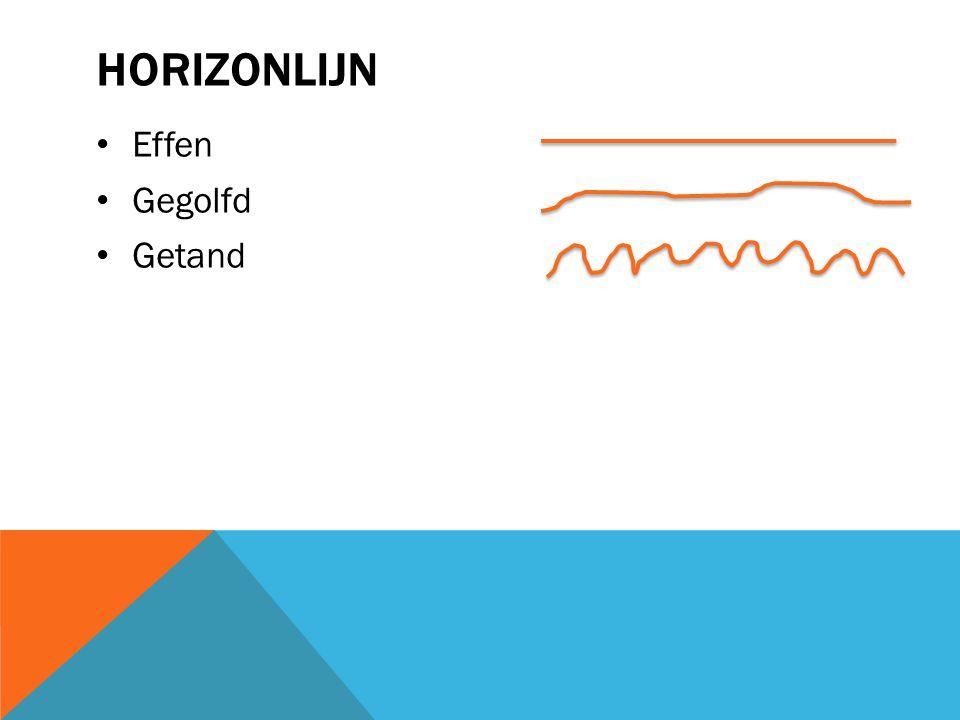 Horizonlijn Effen Gegolfd Getand