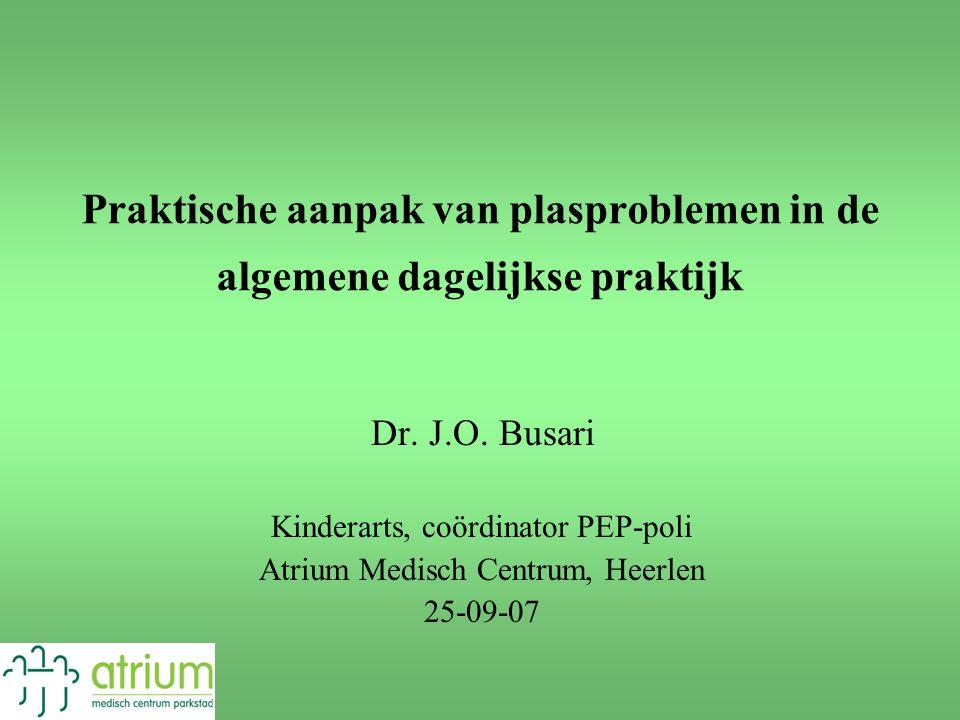 Praktische aanpak van plasproblemen in de algemene dagelijkse praktijk